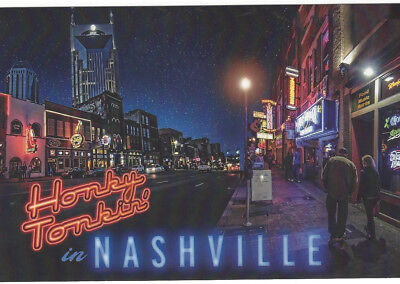 NASHVILLE POSTCARD (100 TOTAL) DOWNTOWN HONKY TONKIN' INVINTATIONs FAVORS EVENTS