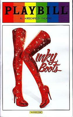 Kinky Boots Gay Pride Playbill New York City Broadway June 2015 Limited Issue
