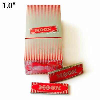 """Moon Red 1.0"""" 50 booklets 70*36mm Cigarette Tobacco Rolling Papers Wood Papers"""