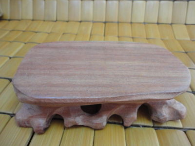 CHINESE Red HARDWOOD NICE CARVED BONSAI POT/VASE STAND 120mm 3