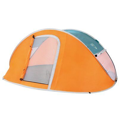 Pavillo Pop Up Zelt Nucamp 2 Personen Campingzelt mit Tragetasche Orange 68004