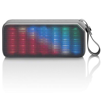Lenco Tragbarer Bluetooth Stereo Lautsprecher kabellos USB BT-190 Light Grau