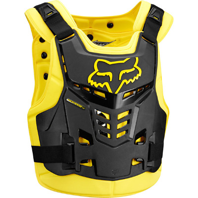 NEW FOX RACING PROFRAME Adult Body Armour BLACK YELLOW Chest Protector Motocross