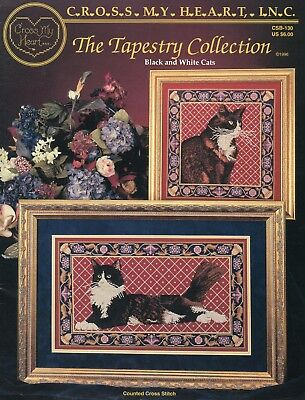 The Tapestry Collection: Black & White Cats Cross Stitch Chart