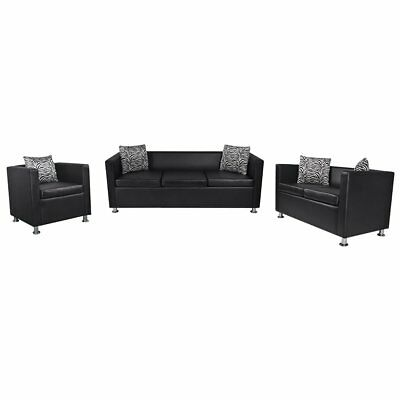 vidaXL Sofa Set 3-Sitzer 2-Sitzer Loungesofa Couch Armsessel Relaxsessel Armsofa