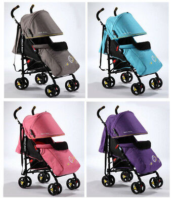 Lightweight Baby Infant Stroller Pram Pushchair Buggy with Lay Back seat 0Month+