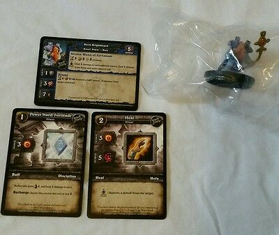World of Warcraft Miniature Game, Boris Brightbeard figure,Core-C and cards,WoW