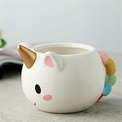 Cute Cartoon Cups 300ml Cooper 3D Unicorn Hand-painted Milk Coffee Mugs Novelty