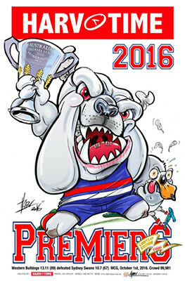 Harv Time 2016 Afl Grand Final Poster Western Bulldogs Limited Edition