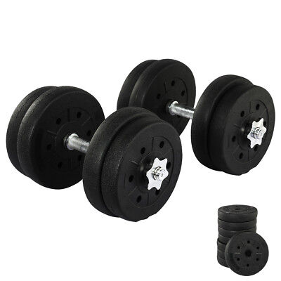 2X Dumbbell Set Weight Gym Workout Biceps Triceps Free Weights Training 20KG
