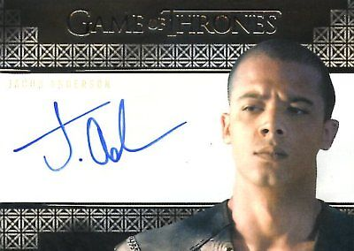 Game Of Thrones Valyrian Steel VALYRIAN AUTOGRAPH card JACOB ANDERSON