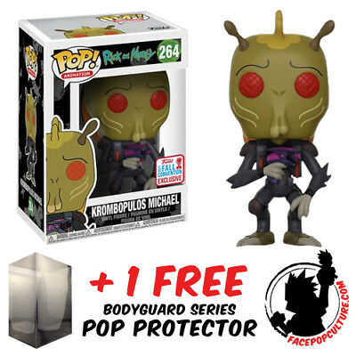 Funko Pop Rick And Morty Krombopulos Michael Nycc 2017 + Free Pop Protector