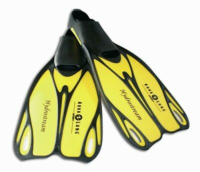 Aqualung Hydrostream Flippers Black Yellow Snorkel Flippers