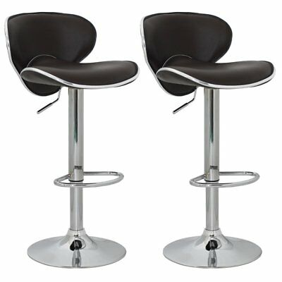 vidaXL 2 x DESIGN Barhocker Bar Stuhl Hocker LOUNGE Sessel Küche Barstühle 47