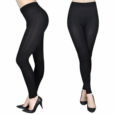 vidaXL 2x Damen Leggings lang Stretch Hose Leggins Legings blickdicht Gr. S/M
