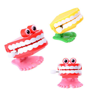 1X Dental Tooth Dentist Wind-up Gift Plastic Tooth Clockwork Toys W&T