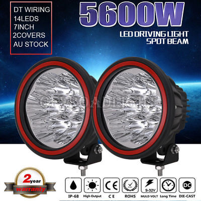 7inch 22400W CREE LED Spotlights Work Driving light Offroad 4x4 4WD HID lamp UTE