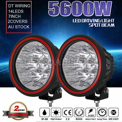 7inch 28800W CREE LED Spotlights Work Driving light Offroad 4x4 4WD HID lamp UTE