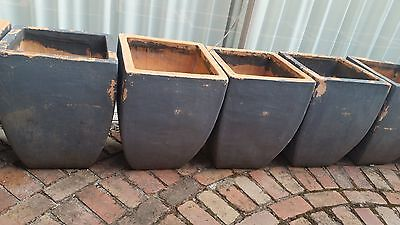 8 Large Weathered Painted Concrete Garden pots