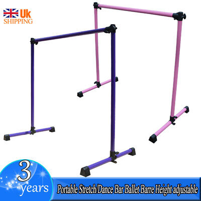 Portable Stretch/Dance Bar Ballet Barre Height adjustable 4FT Steel Ballet Barre