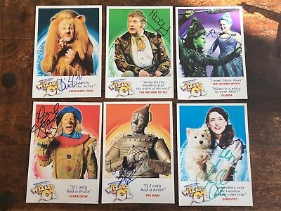 Wizard of Oz Stage Musical signed autographs Michael Crawford