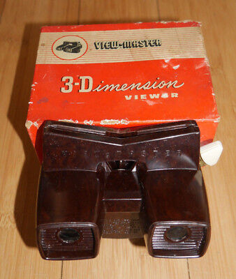 VIEWMASTER VIEWER ORIGINAL MODEL E BAKELITE BOXED RARE VINTAGE 1950's TOY  (811)