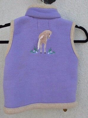 British Country Collection * Lilac Fleece Horse Pony Gilet *  Large * Age 7 - 8