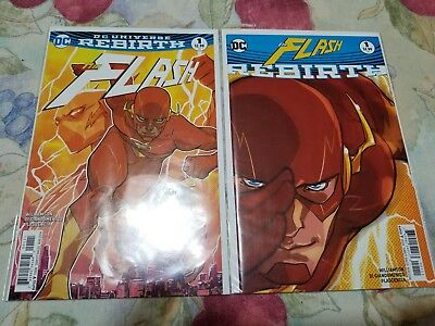 The Flash #1 Rebirth Variant Comic Lot 1st appearance of Godspeed 2016