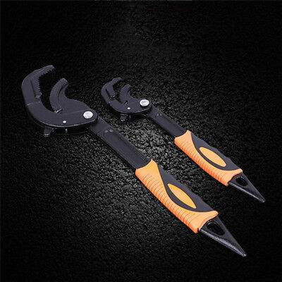 2x Multifunctional Universal Quick Snap&Grip Adjustable Wrench Spanner Tools Set