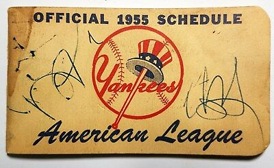 New York Yankees - Official 1955 American League Schedule