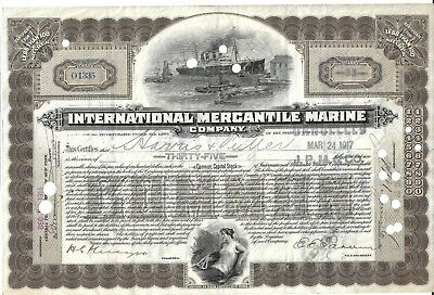 IMM Share Certificate Four funnelled liner. 1917