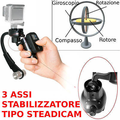 ** Supporto Tipo Steadicam Gopro Stabilizzatore Arco 3 Assi Gimbal Action Cam **