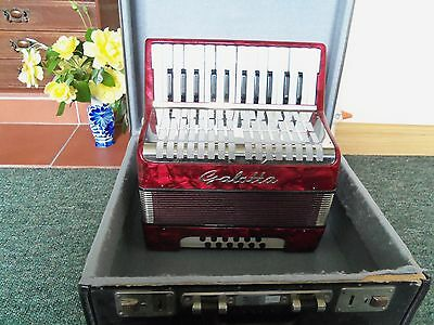 GALOTTA 12 BASS PIANO ACCORDION  (Small model !) WITH BOX