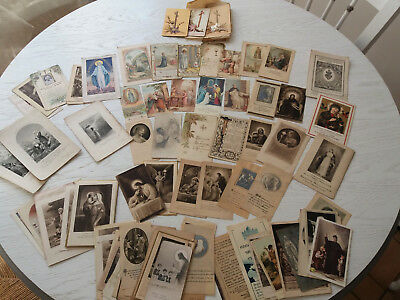 Lot 120 Anciennes Images Pieuses Santino Holy Card Ancien-