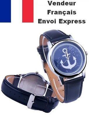 @idee Cadeau@ Montre Homme Femme Hope Ancre Marine Anchor Tom Stainless Swag