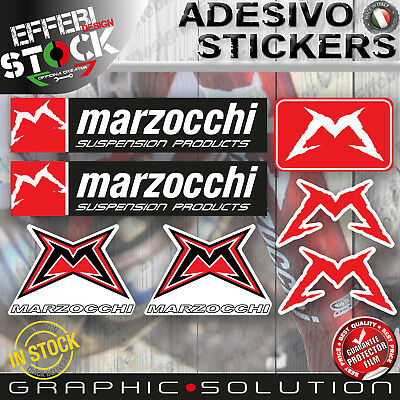 Adesivi Stickers Pegatinas MARZOCCHI SUSPENSION FORK FORCELLE MTB MOTARD 7 Pz