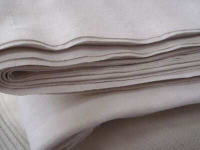 VTG Light Use Home Spun French Linen Union sheet wide 205cms x Long 285cms