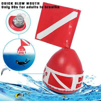 Scuba Diving PVC Signal Floater Diver Below Inflatable Float Dive Flag Bouy Ball