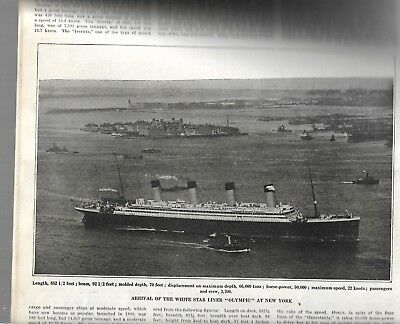 Olympic maiden voyage arrival New York 1911
