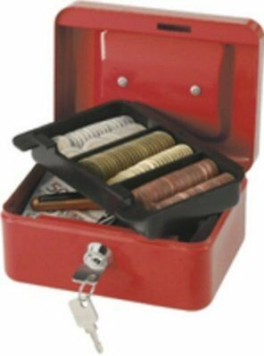 KF04249 , Q Connect Cash Box 8 inch Red