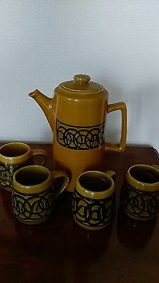 Brixham Pottery Coffee Set- Collectable 1970's - Very Good Condition
