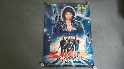 Savage Streets original UK video store poster Medusa home video