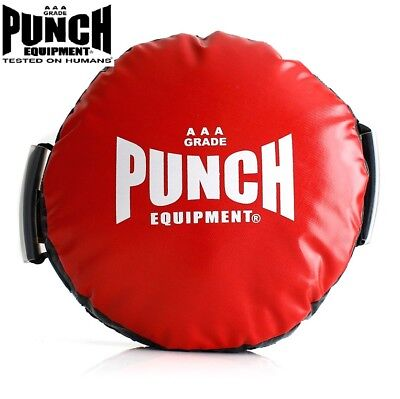 NEW Punch Round Boxing Shield - Round Boxing Pad Hit Sheild Strike Training RED