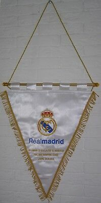 Banderin Champions League Final 2014 Remake Real Madrid Atletico Match Pennant