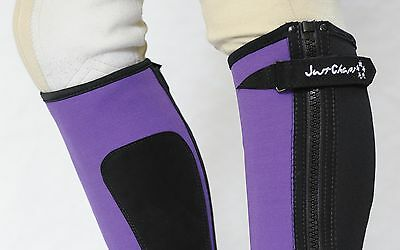 Just Chaps Adult Endurance Neoprene Riding Half Chaps - Black, Blue, Red, Purple