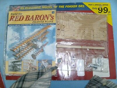 Fokker DR 1 1/8 scale Hatchette  kit complete 100 issues complete and unassemble