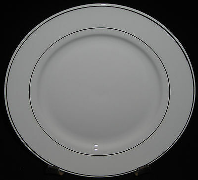 Gibson Anniversary Golden Black Stamp Salad Plate