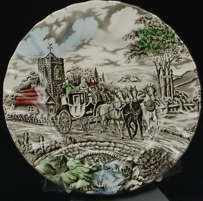 Myott Royal Mail Multicolor White Background Bread and Butter Plate