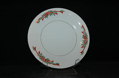 Tienshan Poinsettia and Ribbon Large Salad Plate