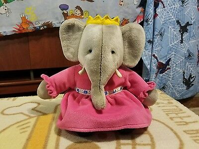 "1989 Gund Babar Approx 16"" Celeste The Elephant Queen Plush"